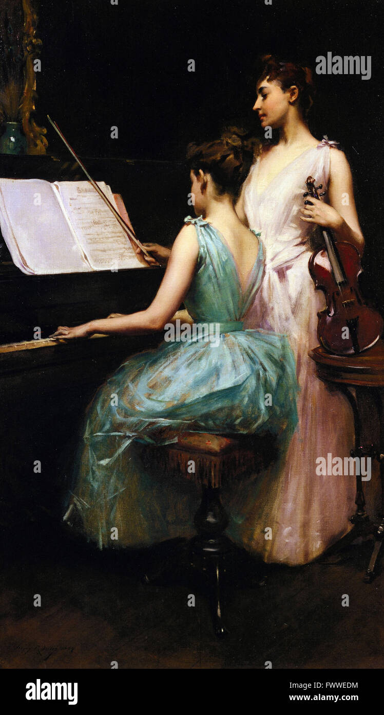 Irving Ramsay Wiles - The Sonata - de Young Museum - Stock Image