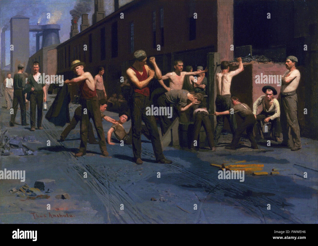 Thomas Pollack Anshutz - The Ironworkers' Noontime - de Young Museum - Stock Image