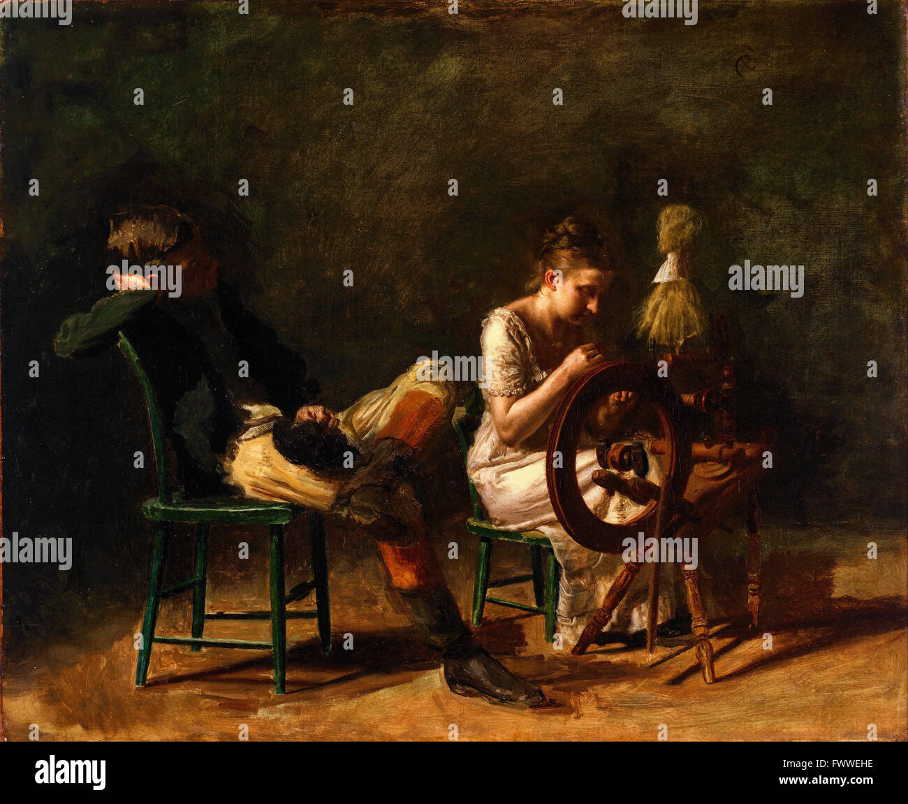 Thomas Eakins - The Courtship - de Young Museum - Stock Image