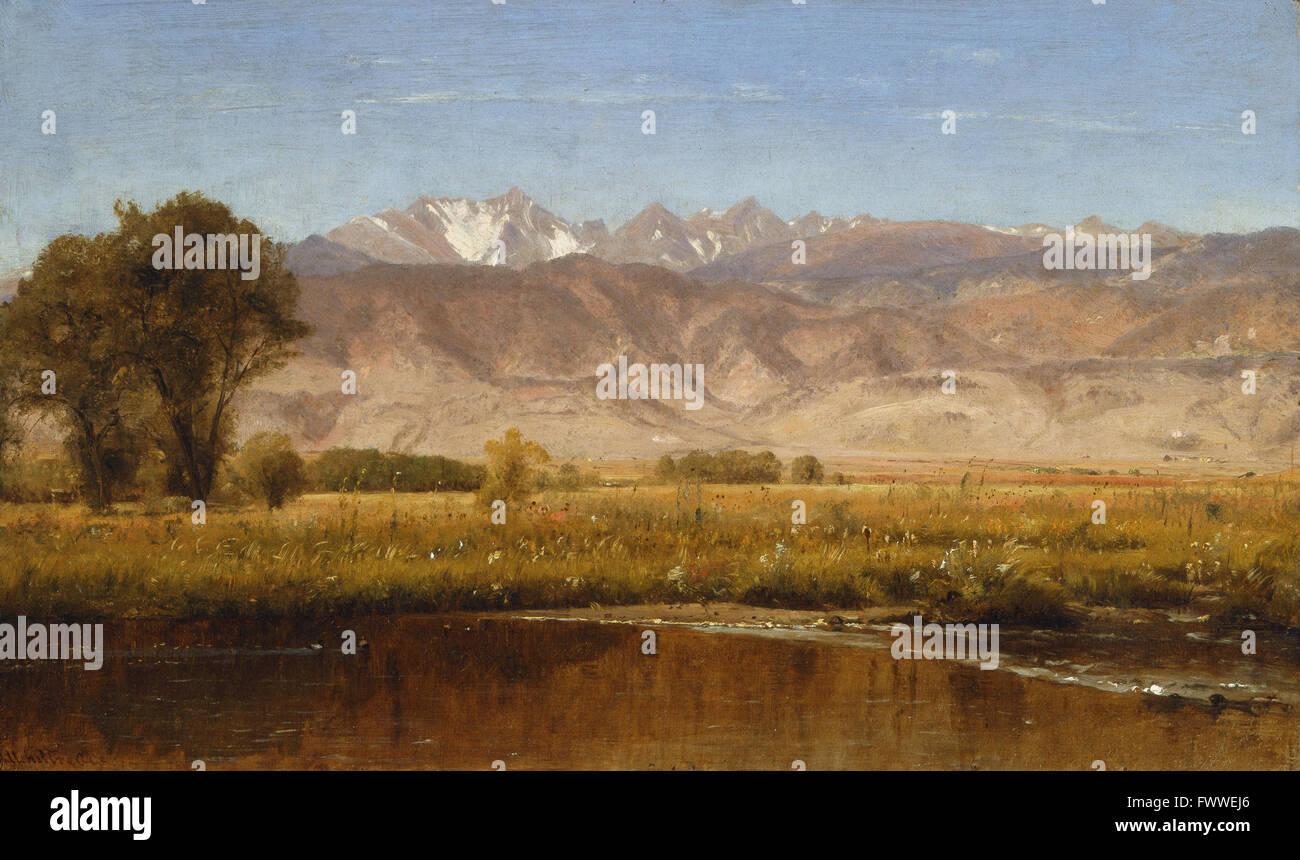 Worthington Whittredge - Foothills Colorado - - Stock Image