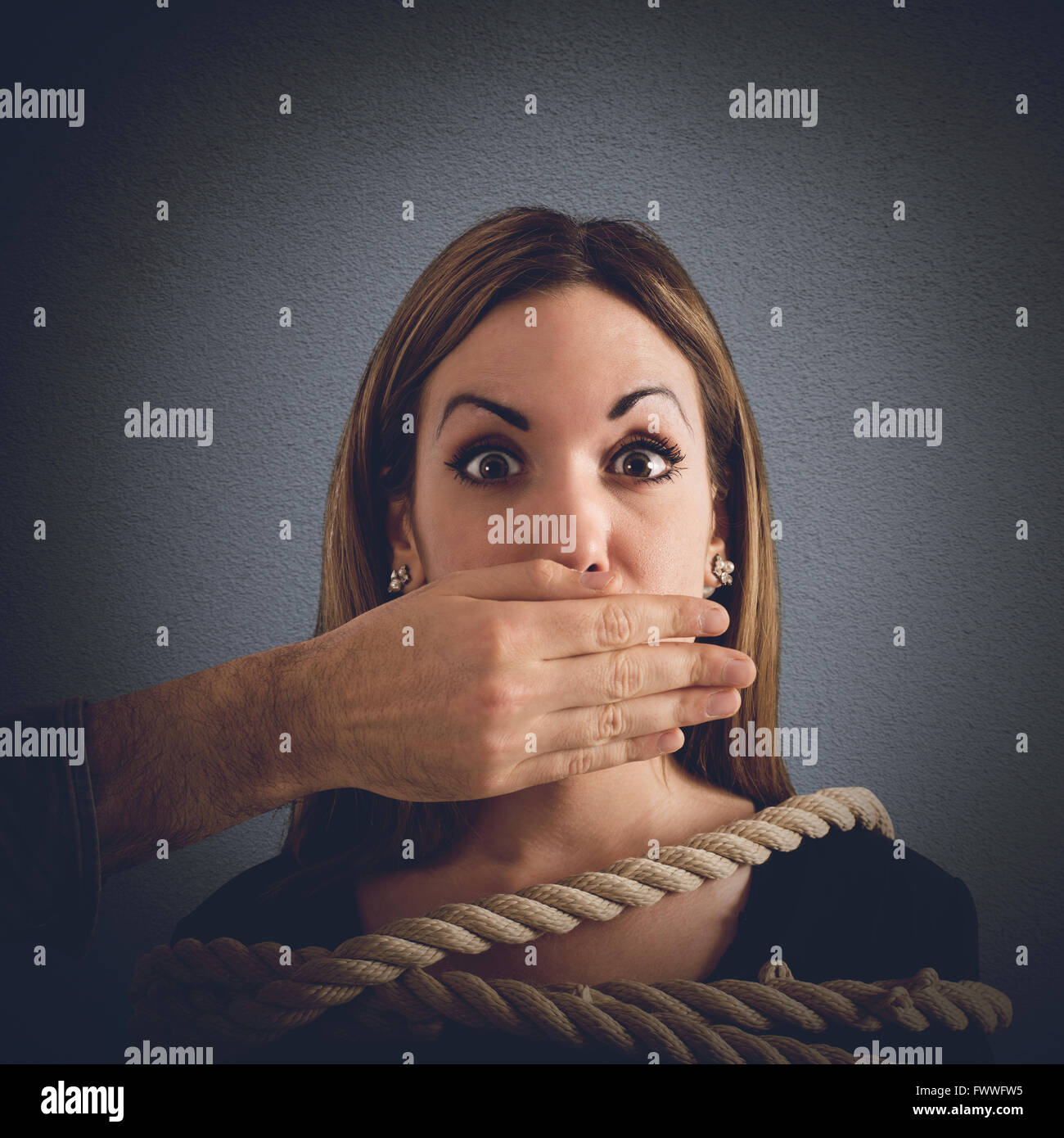 Mobbing concept - Stock Image