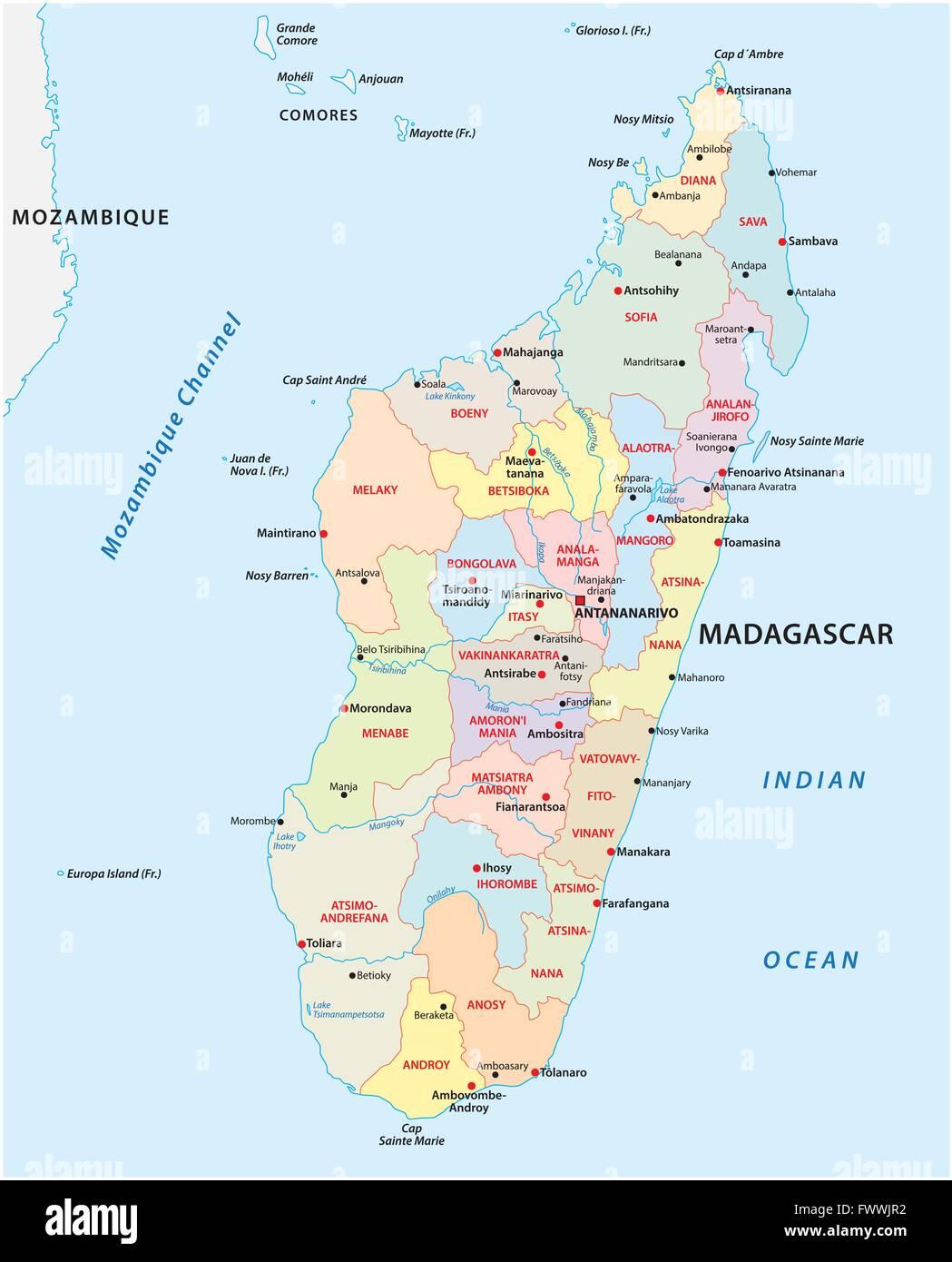 Antalaha Madagascar Carte.Map Of Madagascar Stock Photos Map Of Madagascar Stock