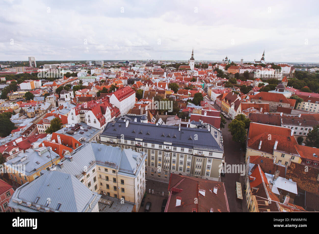panorama of Tallinn, Estonia - Stock Image