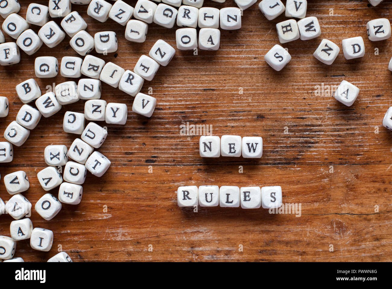 new rules - Stock Image