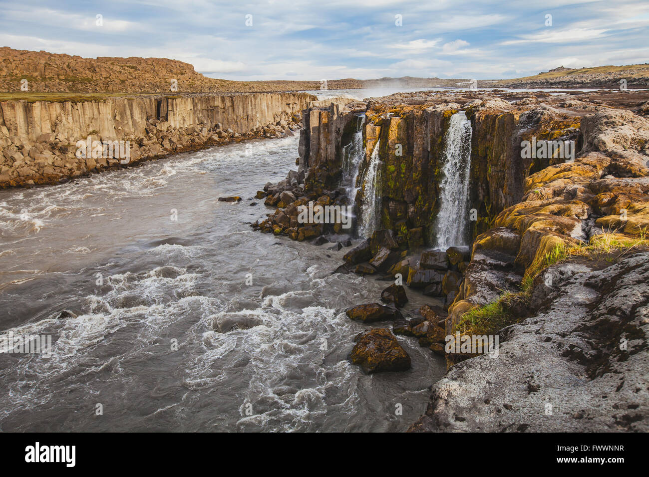 beautiful landscape, waterfall in Iceland - Stock Image