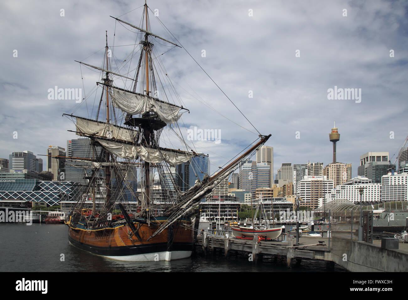 australian national maritime museum in sydney darling harbour australia - Stock Image