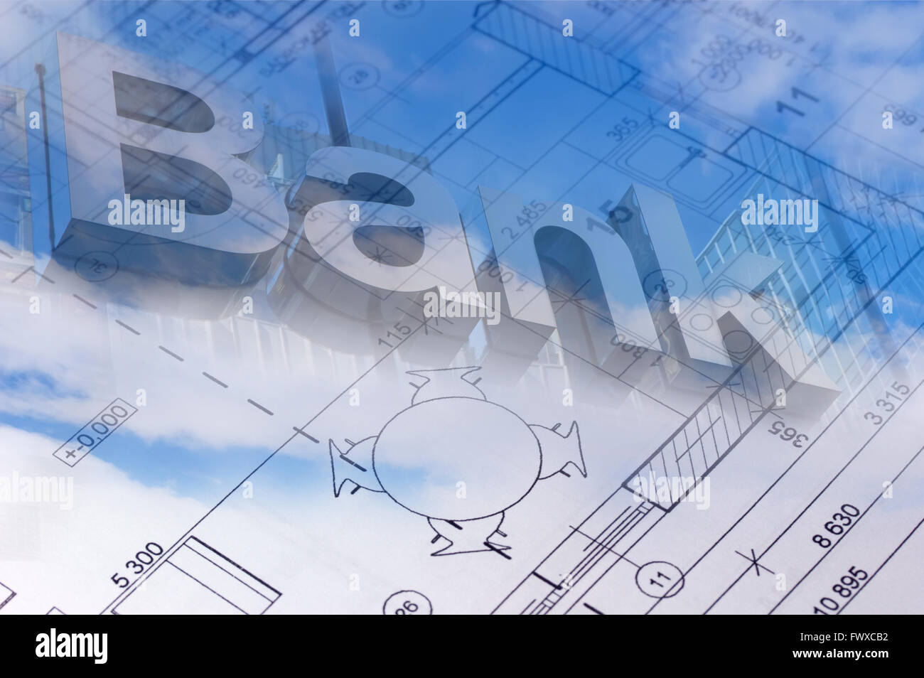 Blue sky with clouds and the blueprint of the house with bank sign blue sky with clouds and the blueprint of the house with bank sign in the background malvernweather Image collections