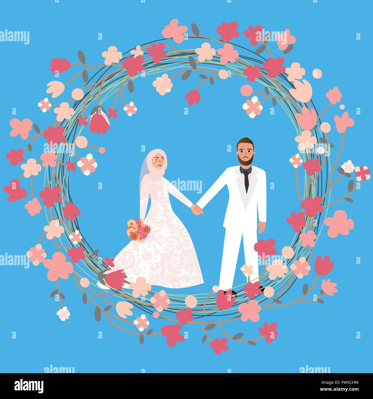 Muslim Marriage Stock Vector Images Alamy