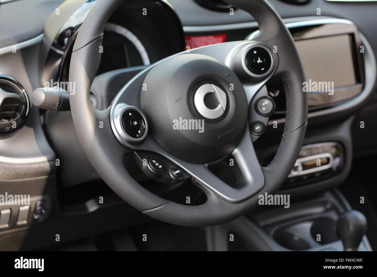 cockpit of a smart car - Stock Image