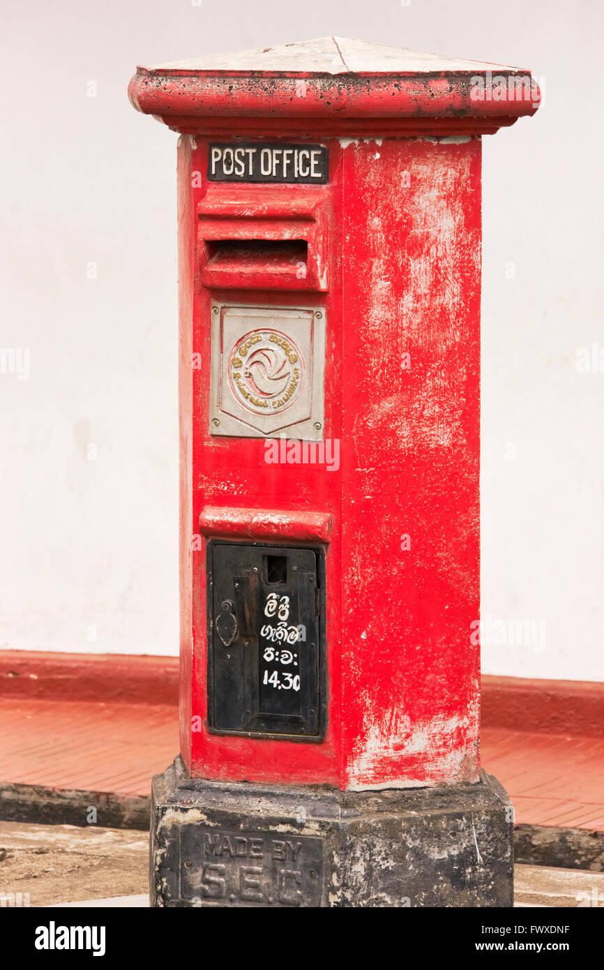 Postal box, Dambulla, Sri Lanka - Stock Image