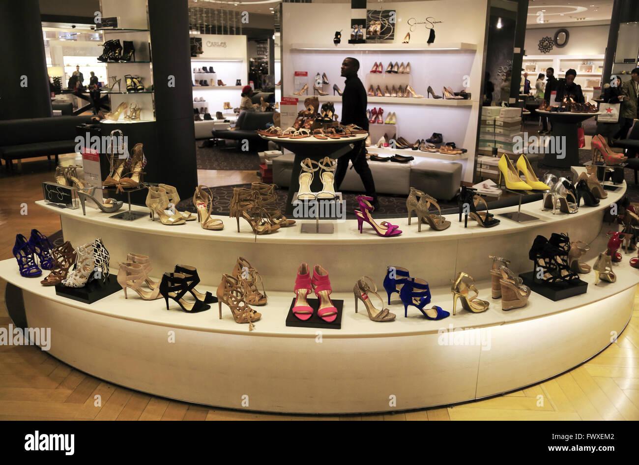 Women shoes department in Macy's