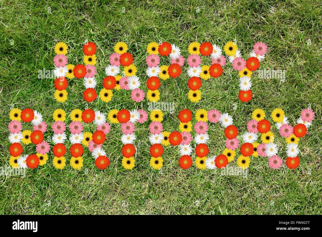 Happy Birthday With Flowers Stock Photos Happy Birthday With