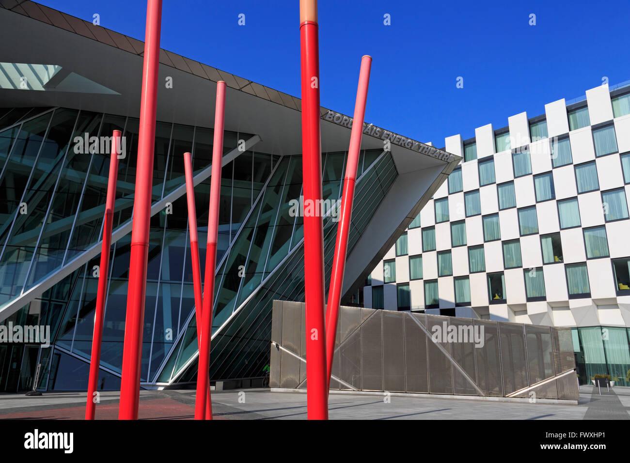 Bord Gais Energy Theatre, Grand Canal Dock, Dublin City, County Dublin, Ireland, Europe - Stock Image