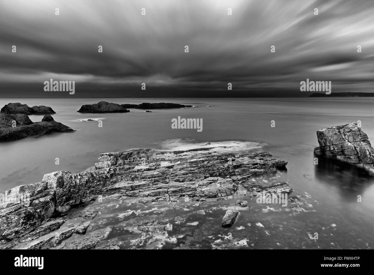 Ballintoy Harbour, Ballintoy Village, County Antrim, Ulster, Northern Ireland, Europe - Stock Image
