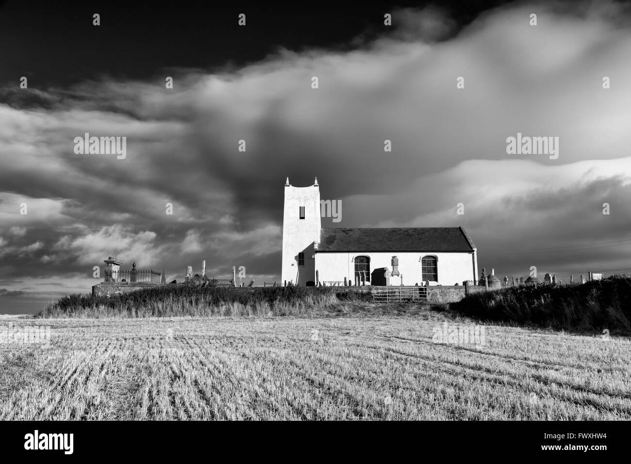 Ballintoy Church, Ballintoy Village, County Antrim, Ulster, Northern Ireland, Europe - Stock Image