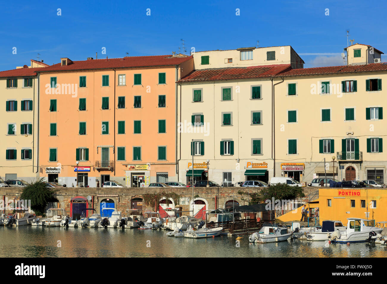 Venice Quarter, Livorno, Tuscany, Italy, Europe - Stock Image