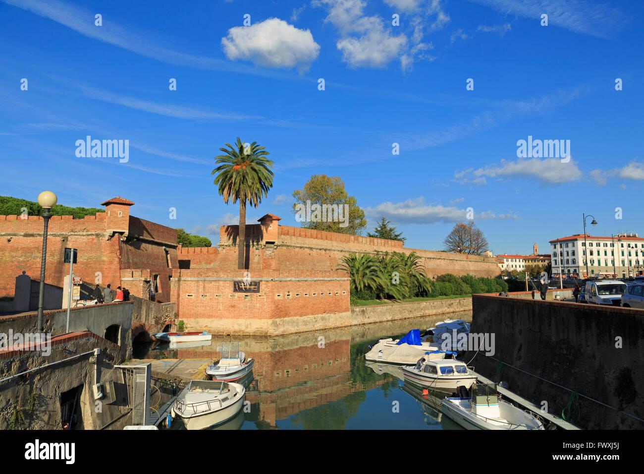 Nuova Fortress, Livorno, Tuscany, Italy, Europe - Stock Image