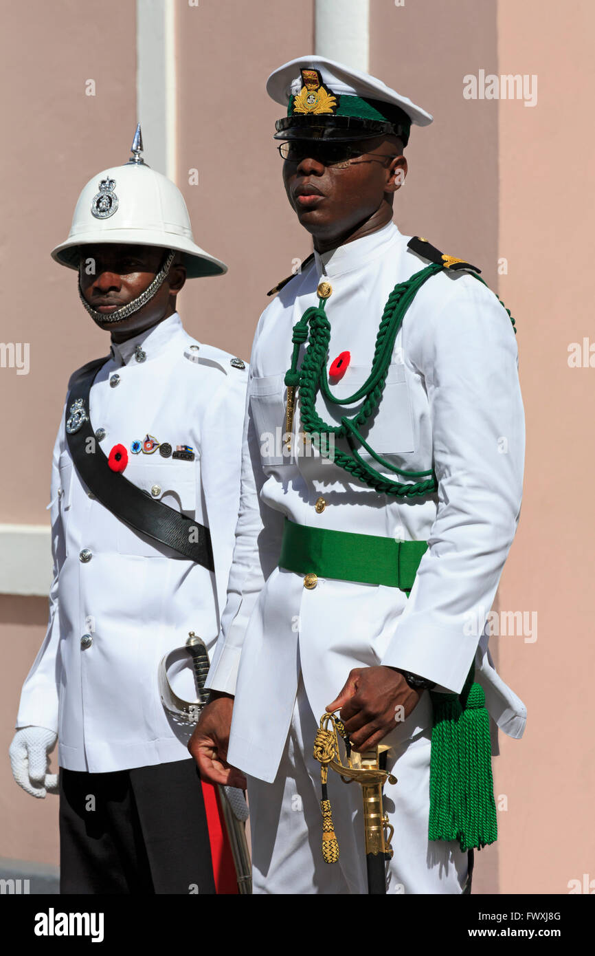 Bahamian Defense Force on Remembrance Day, Nassau, New