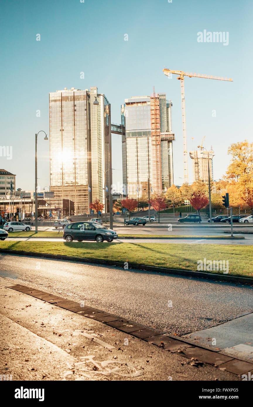 Sweden, Vastra Gotaland, Gothenburg, City traffic - Stock Image