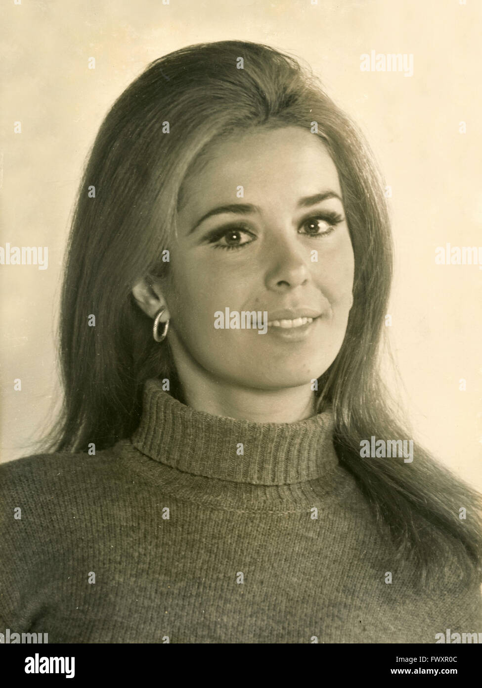 A young model 70s, Italy - Stock Image