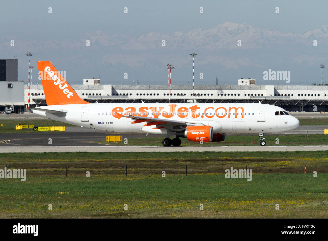 EasyJet, Airbus A320-214 at Linate airport, Milan, ItalyStock Photo