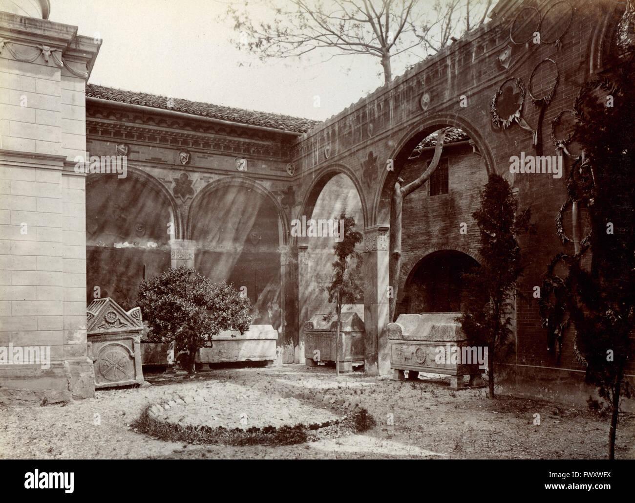 The burial ground of Braccioforte, Ravenna, Italy - Stock Image