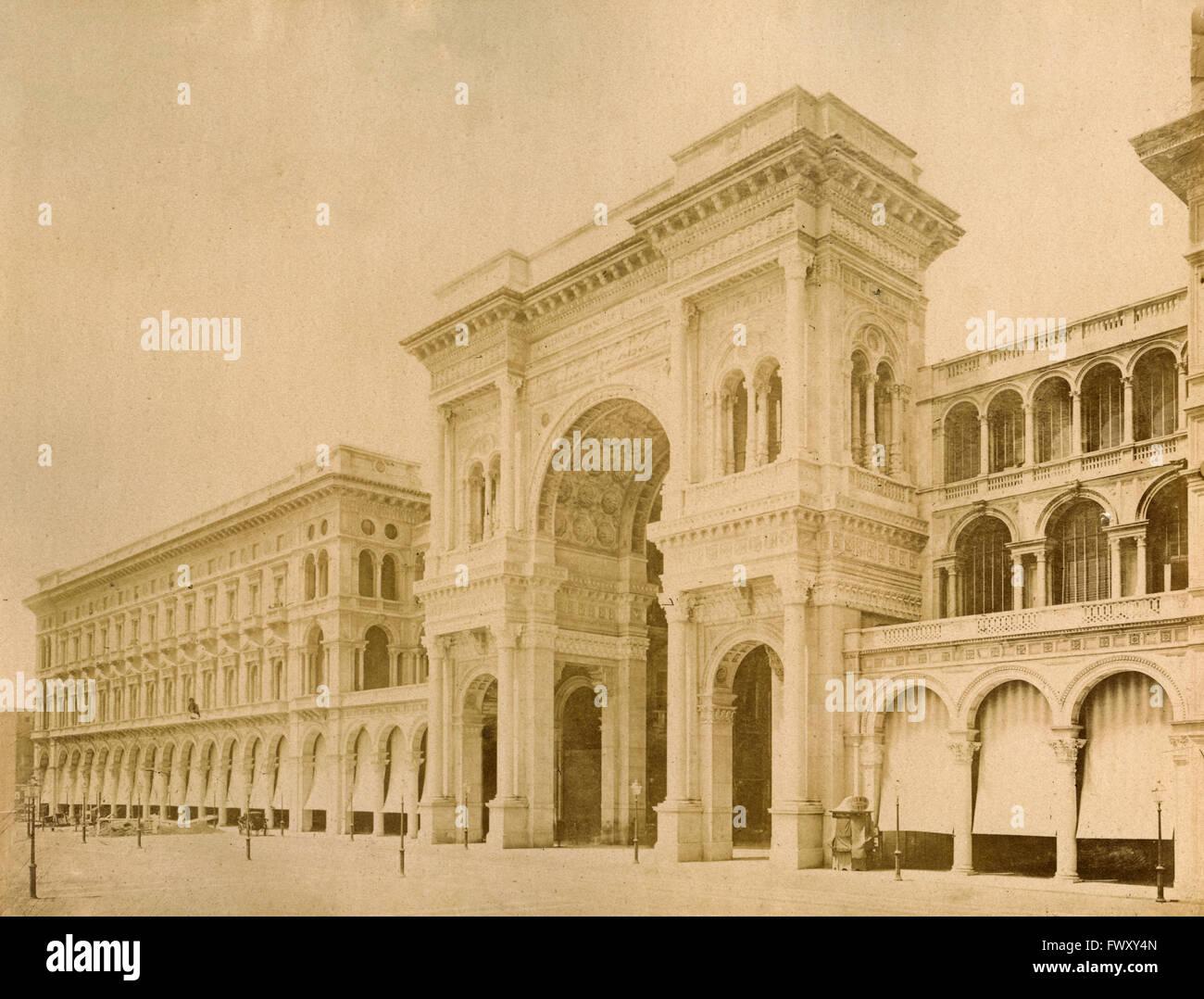 Gallery Vittorio Emanuele, Milan, Italy - Stock Image