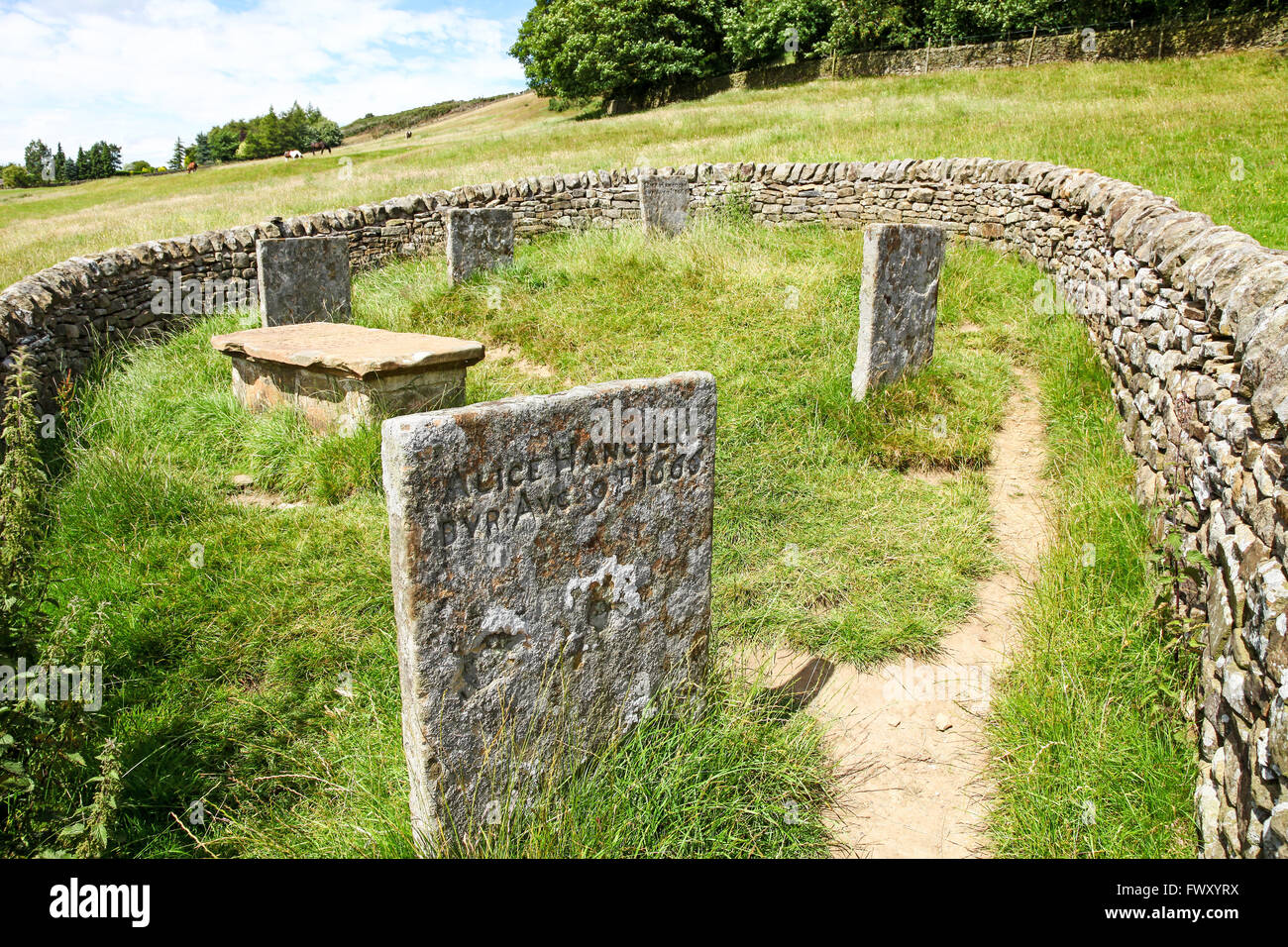 Riley Graves Eyam Derbyshire England UK PHOTO TAKEN FROM PUBLIC FOOTPATH - Stock Image