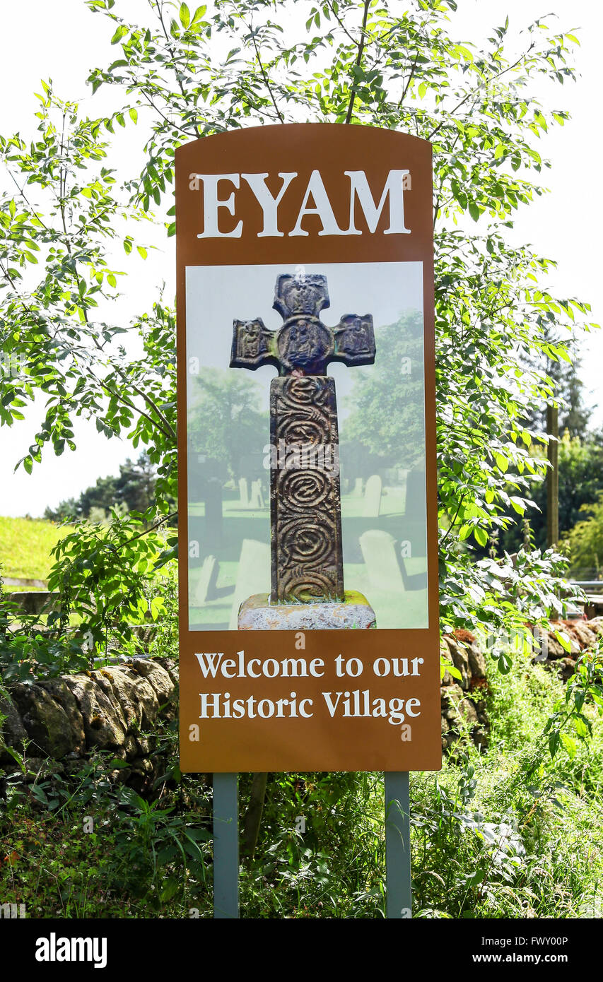 The plague village of Eyam Derbyshire England UK - Stock Image