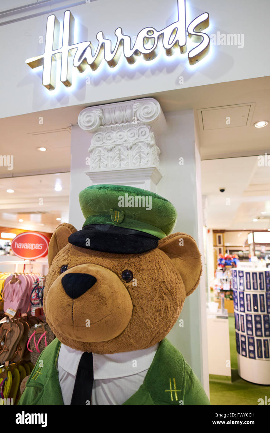 Harrods Duty Free Store Within The Departure Lounge North Terminal Gatwick Airport West Sussex London UK - Stock Image