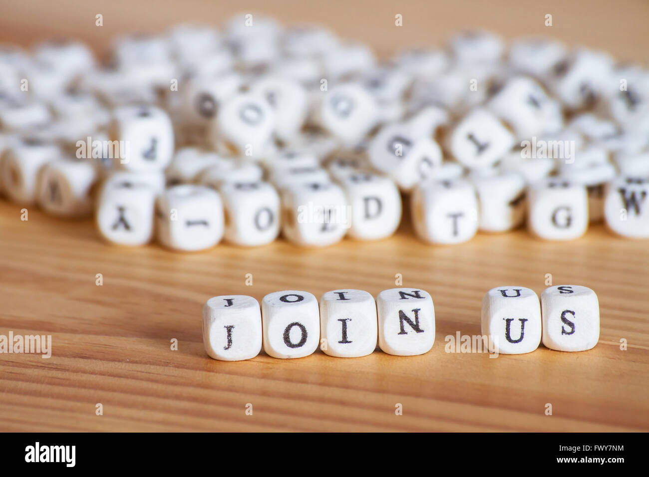 join us, concept - Stock Image