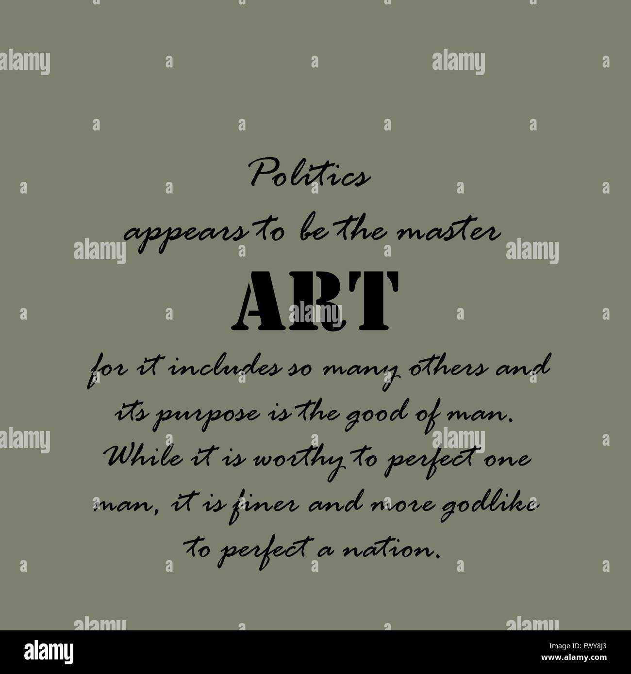 Politics appears to be the master... - Stock Vector