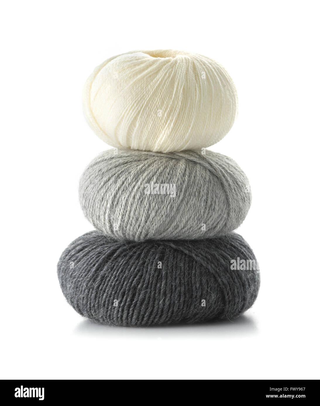 3 balls of wool - Stock Image