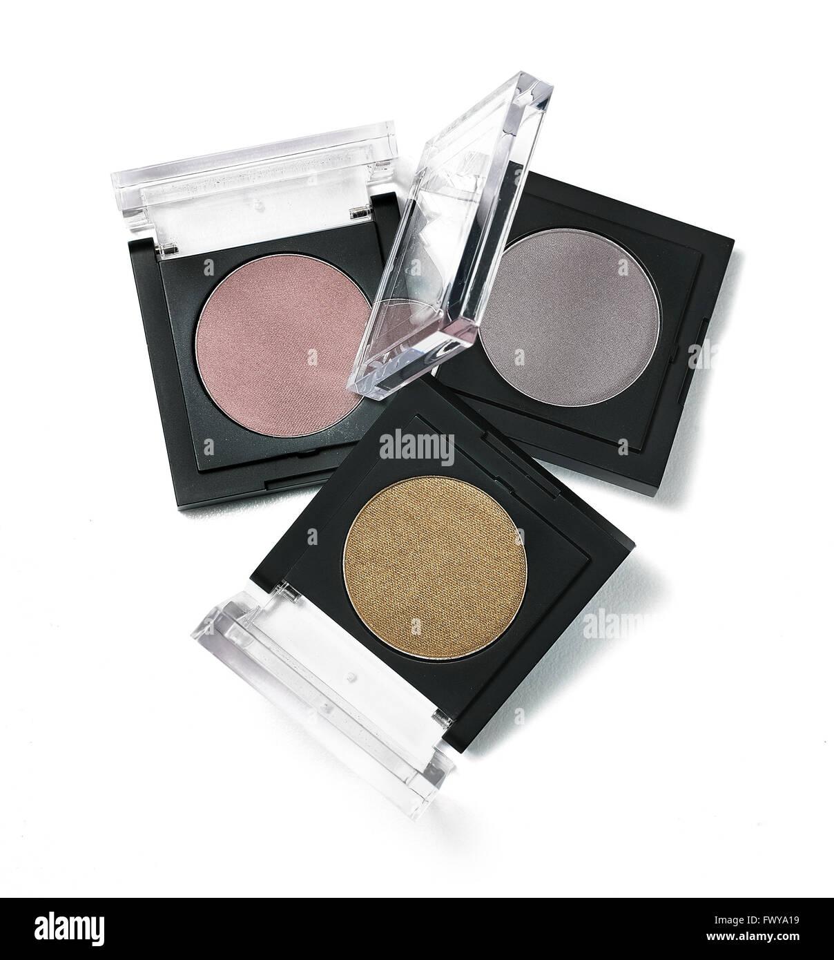 Trio of eyeshadows - Stock Image