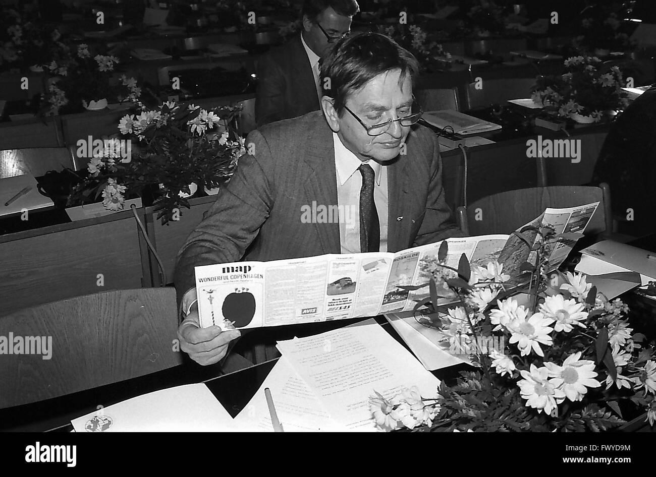 Copenhagen/Denmark/ (historical images 1986) late sweish prime minister Oulf Palmer in Copenhagen /Denamrk - Stock Image