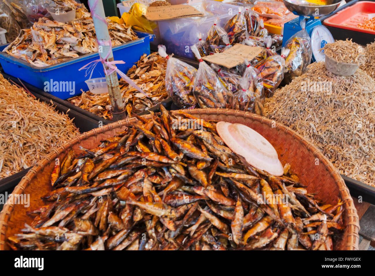 Fish market, Bandar Seri Begawan, Brunei - Stock Image