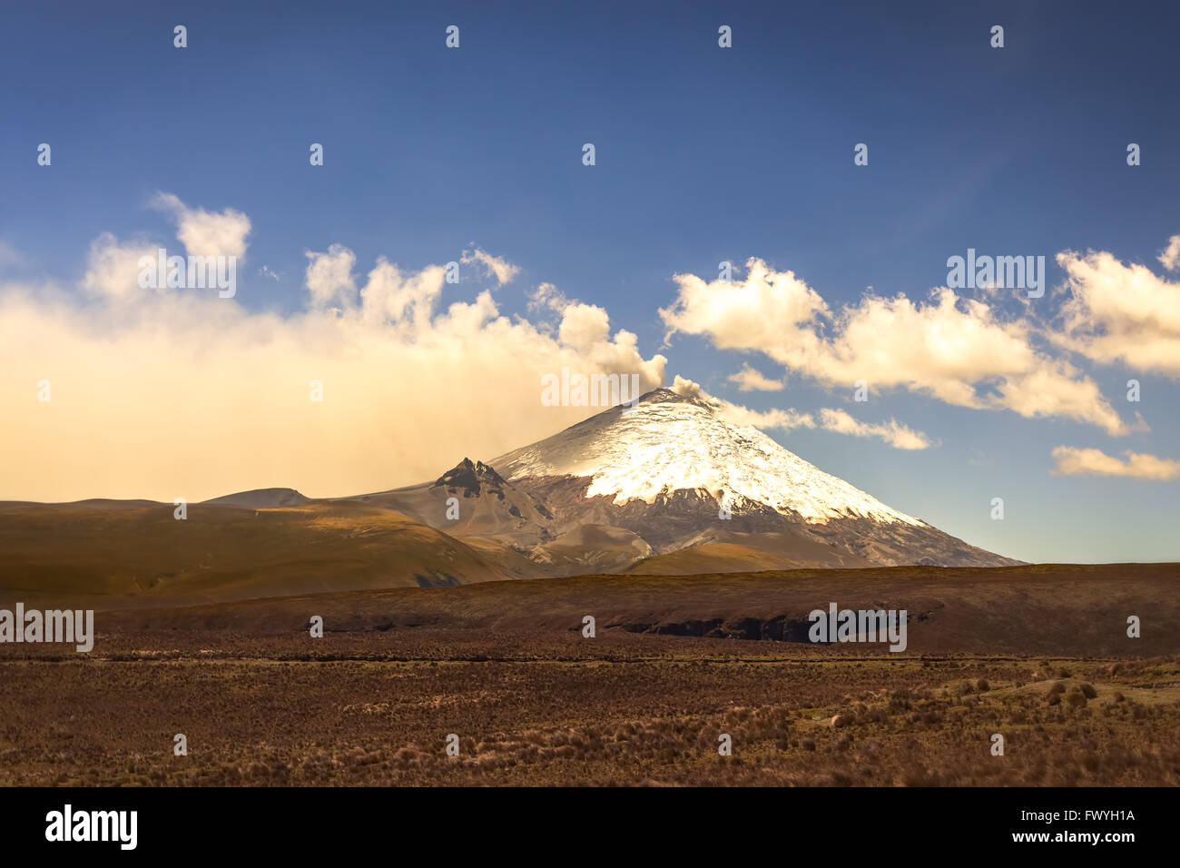 Cotopaxi Volcano Is Part Of The Chain Of Volcanoes Around The Pacific Plate Known As The Pacific - Stock Image