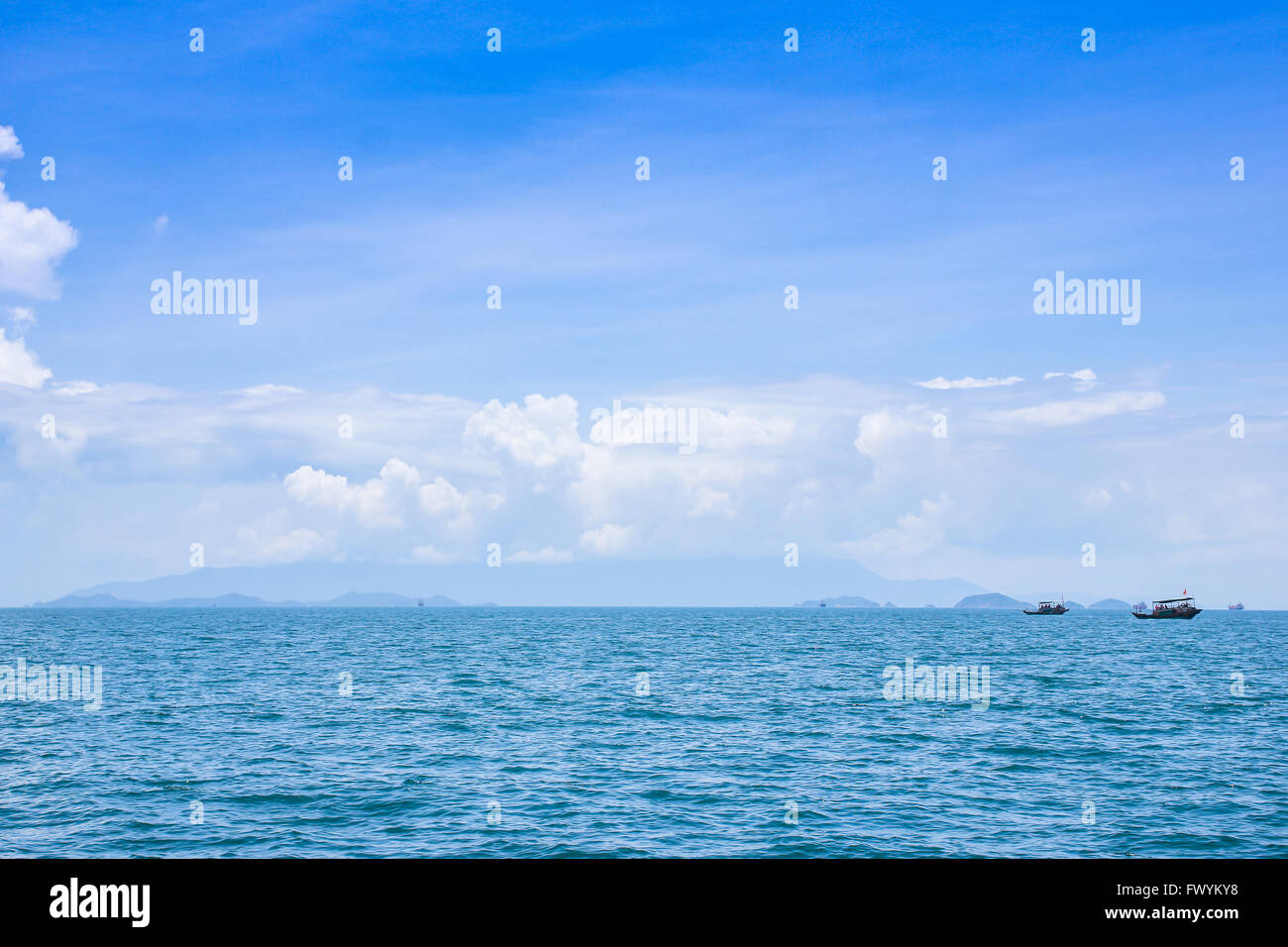 Huizhou ten mile Silver Beach ocean scenery - Stock Image