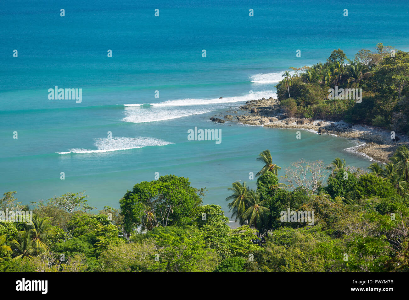 OSA PENINSULA, COSTA RICA - Pan Dulce beach and the Pacific Ocean. - Stock Image