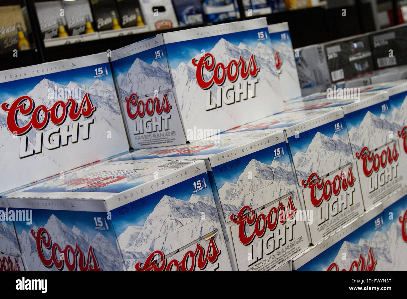 Amazing Coors Light Beer Cases On Display At A Newly Opened Self Serve Beer Store  In Kingston, Ont., On March 16, 2016. Awesome Ideas