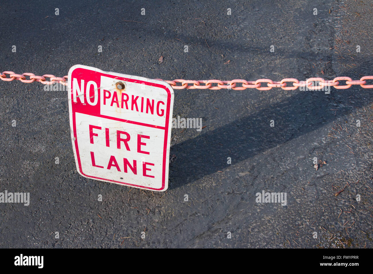No parking fire lane signStock Photo
