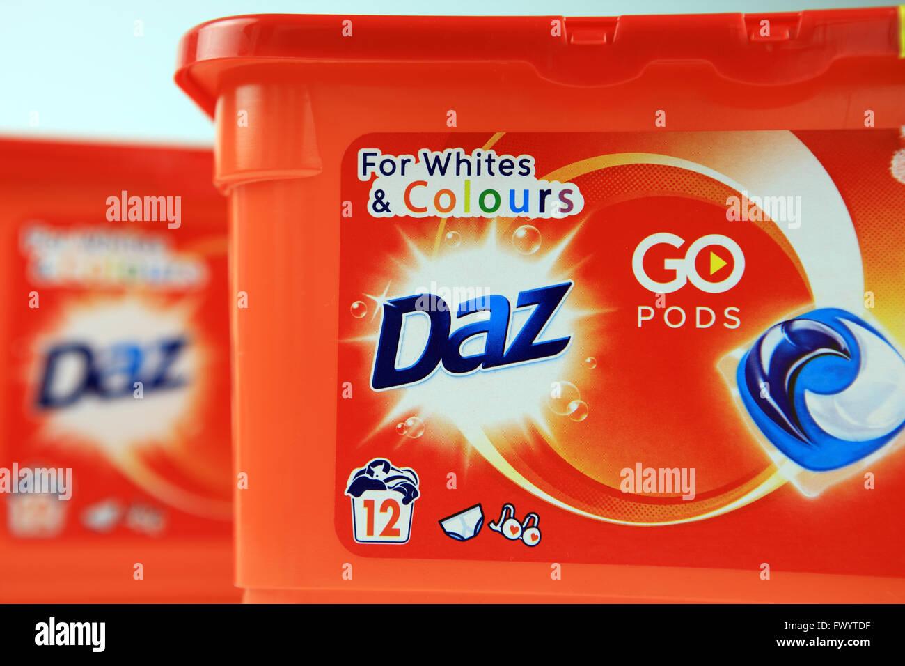 Daz laundry detergent pods - Stock Image