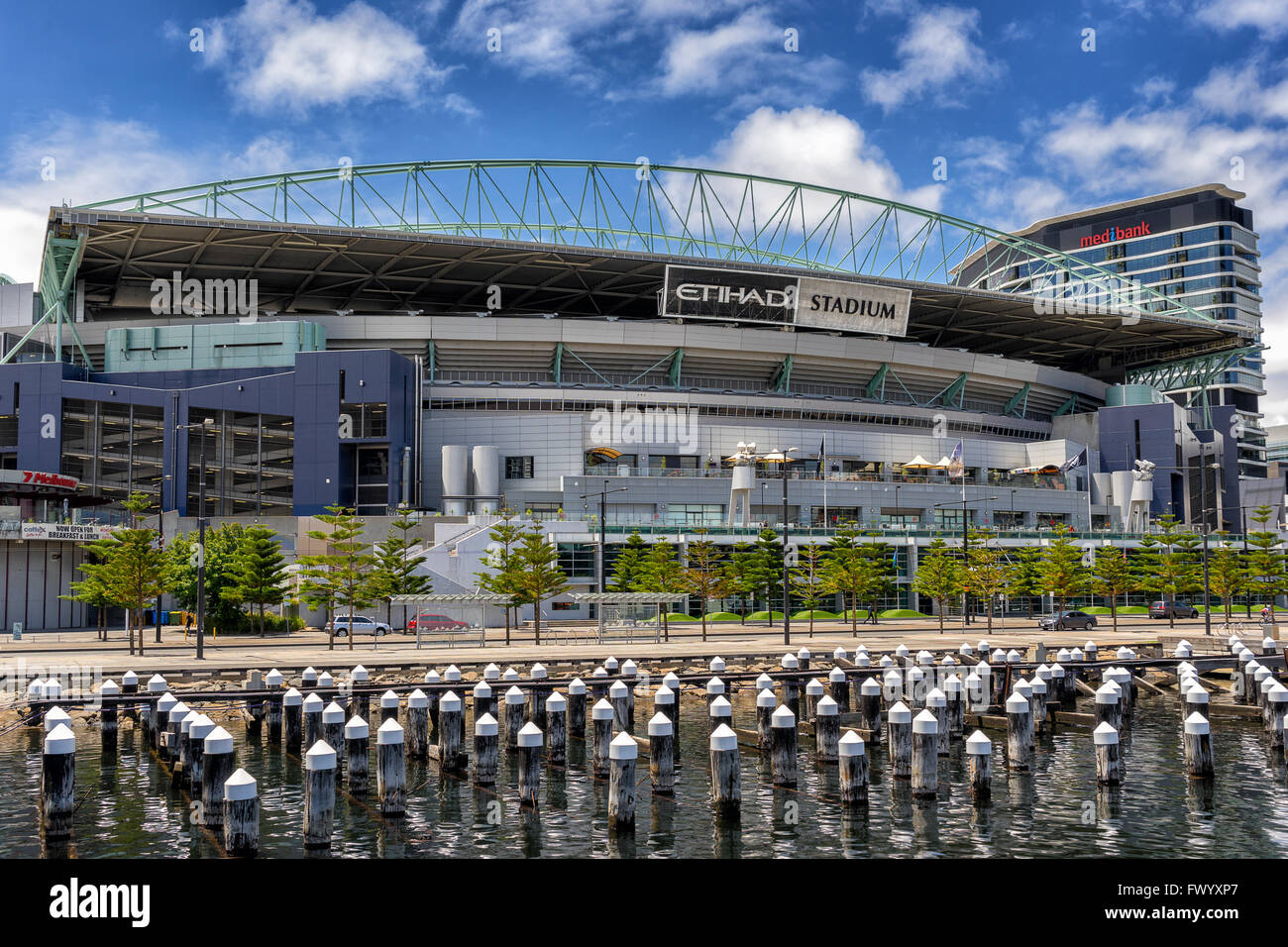 Victoria Harbor in the Docklands Melbourne - Stock Image