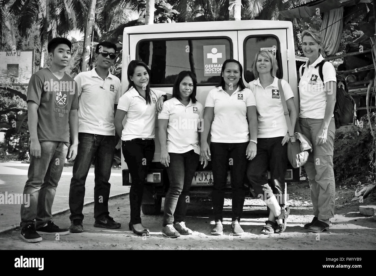 German Doctors: ASIEN, PHILIPPINEN, CEBU, CEBU CITY, Das Team der German Doctors im humanitären Einsatz. Editorial - Stock Image