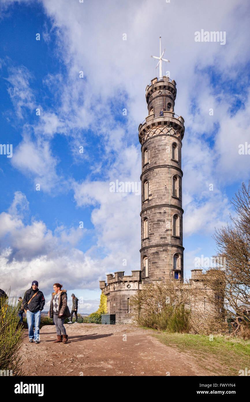 The Nelson Monument on Calton Hill, Edinburgh, Scotland. Stock Photo