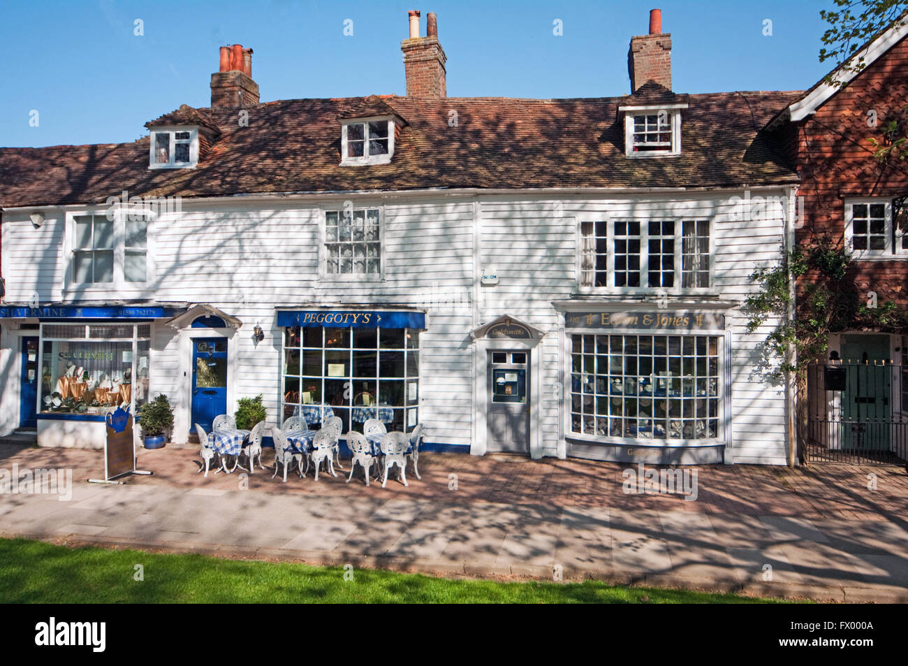 Tenterden, Cafe, Kent, England, - Stock Image