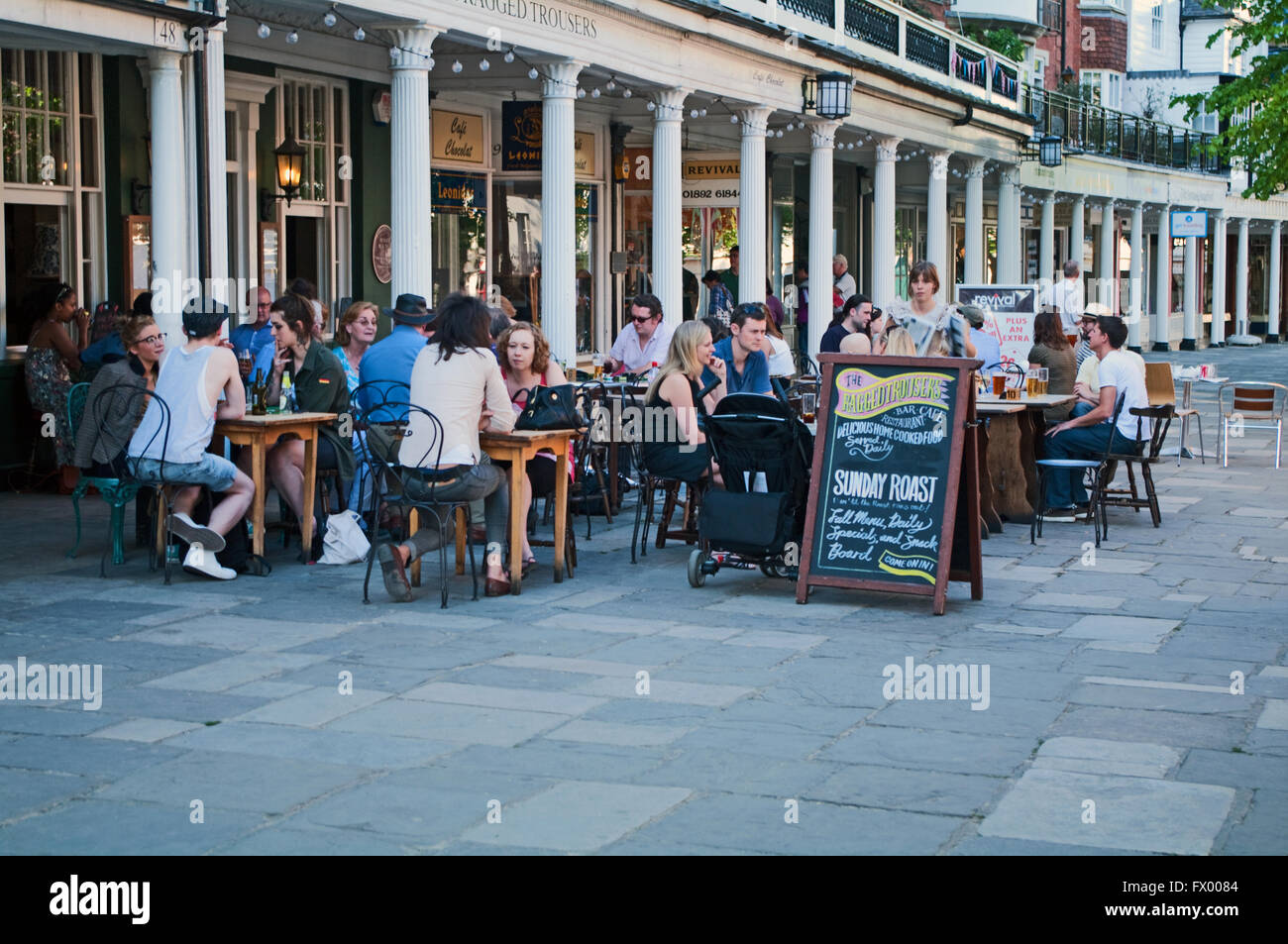 Pantiles, Cafe, Royal Tonbridge Wells, Kent, England, - Stock Image