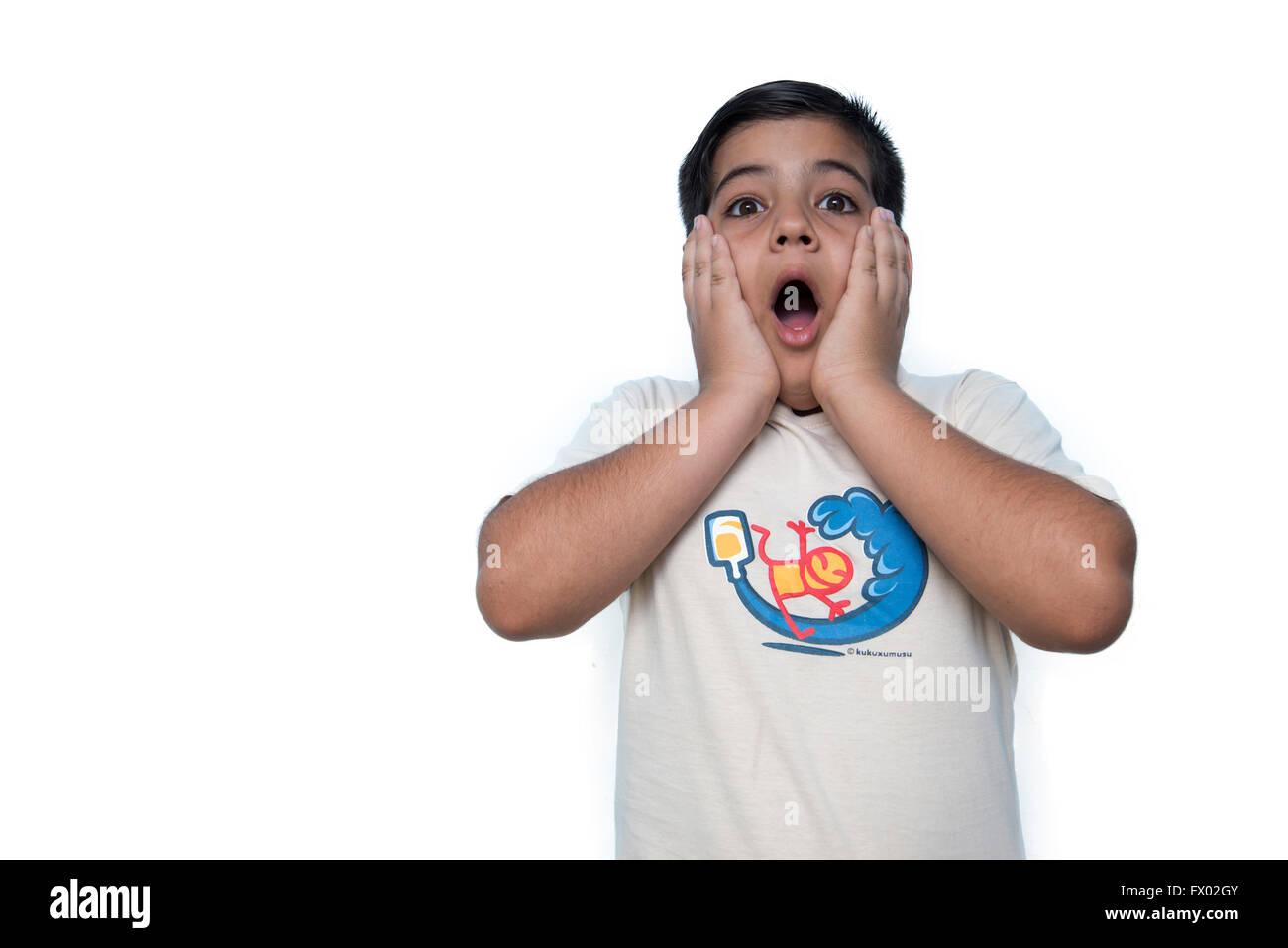 Portrait of teenage Latin boy - Stock Image