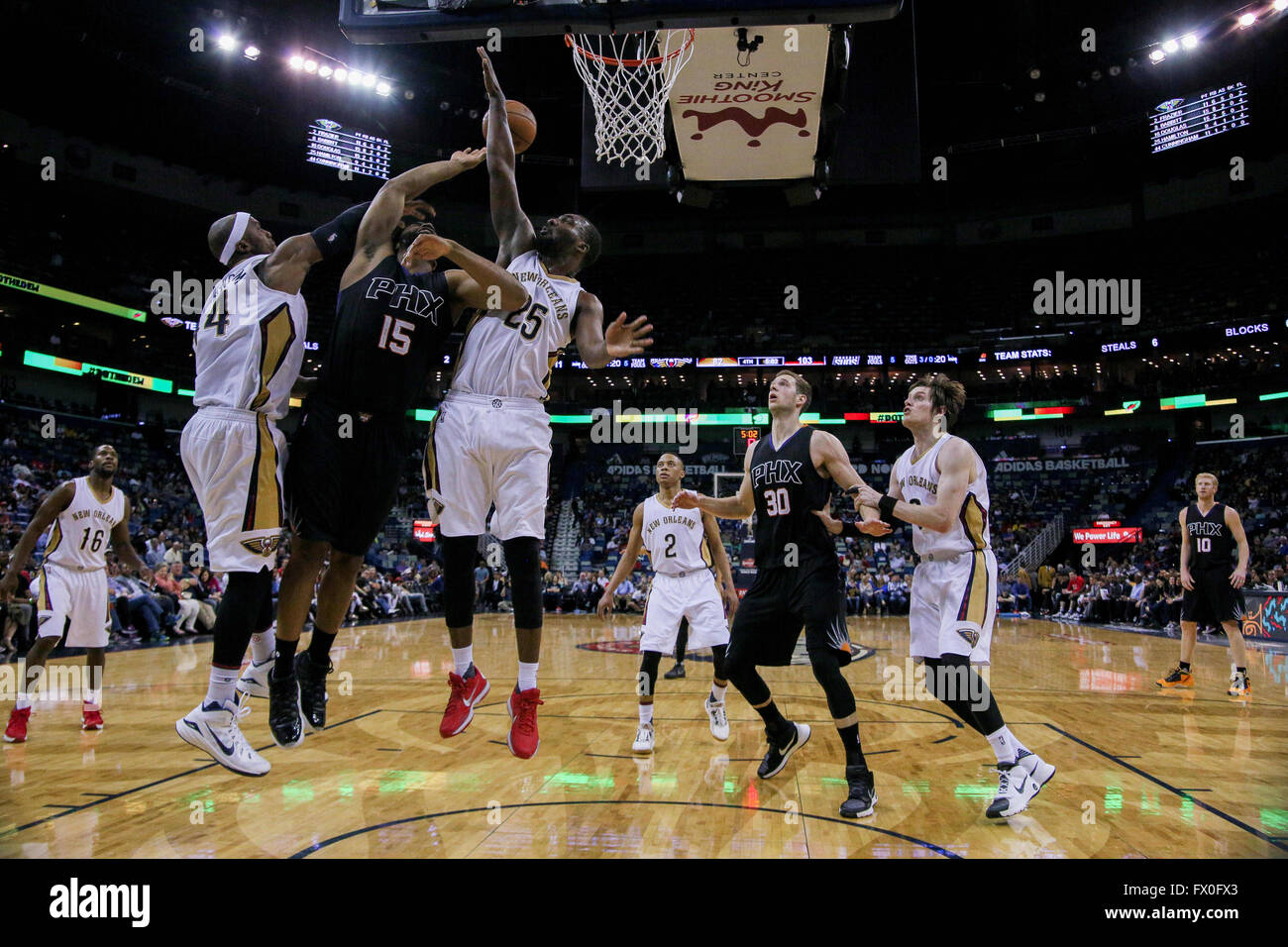 New Orleans La Usa 09th Apr 2016 New Orleans Pelicans