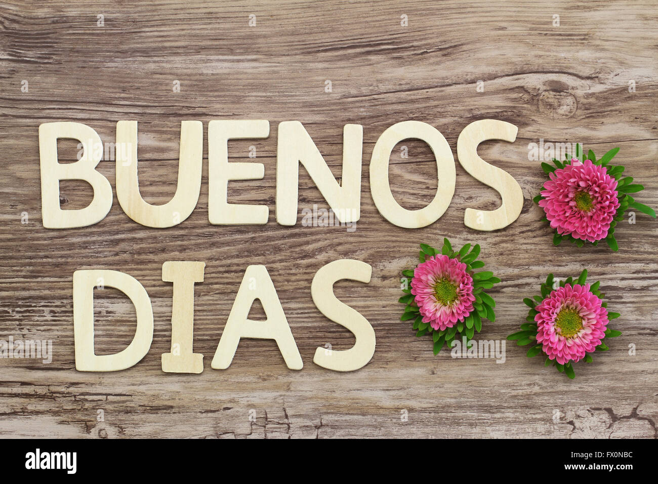 Buenos dias (which means good morning in Spanish) written ...